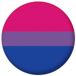 Bisexual Pride Flag 25mm Button Badge